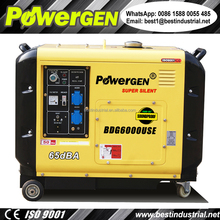 Super Silent!!! 65 dBa Factory Direct Sale 220V 50Hz/60Hz Kama Diesel Generator 5KW for sale