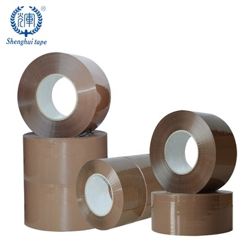 Customised Hot Sale German Bopp Opp Parcel Tape Brown Strong Adhesive low Noise Package Box Tape For Packing