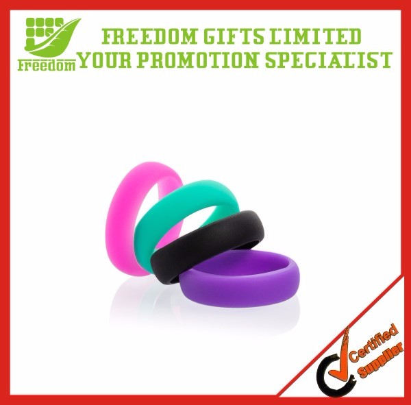Promotional custom embossed silicone rubber wedding rings