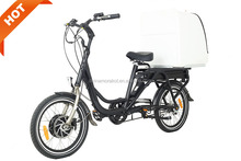 L2 Food Delivery Bike Delivery Box Front Motor Fast Food Delivery 500W E Bicycle Bulk Carrier For Sale Electric Cargo Bike
