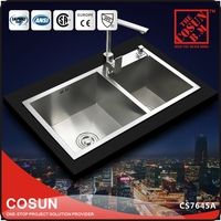Restaurant Stainless Steel 304 Sink With Sound Deadening Pad