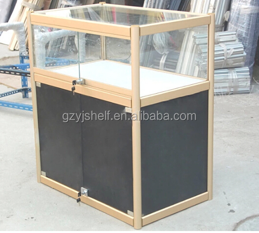 Modern Showcase Shot Glass Display Cabinet, Portable Glass Kiosk, Glass  Shop Counter, Wooden