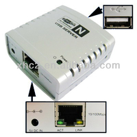 Wholesale Networking USB 2.0 Server (Share Printers, USB Devices over Wired Ethernet or a Wireless Networking)