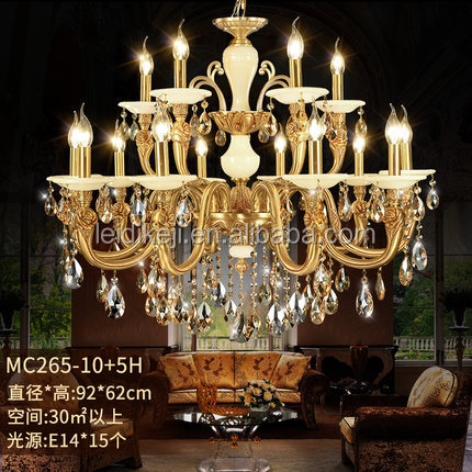 Wholesale brass luxury antique large crystal ballroom chandeliers for hotel