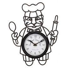 Factory Price Kitchen Chef Clock with knife and fork hands