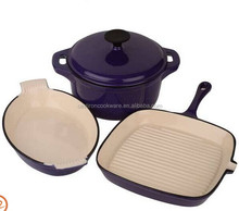 New Product 2014 Purple Cast Iron Cookware Sets