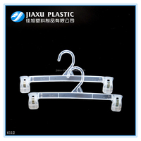 Alibaba top selling mini pants hanger,9inch plastic clothes hanger with clips
