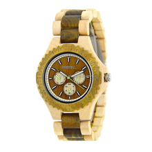 OEM service custom logo wood watch 6 hands men luxury wooden wrist watches