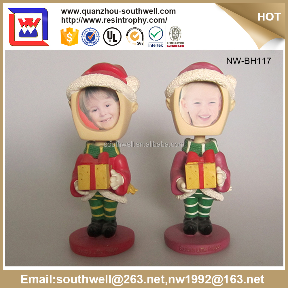 Best Selling Unique Craft Personalized Santa Claus Photo Frame Customized Bobble Head