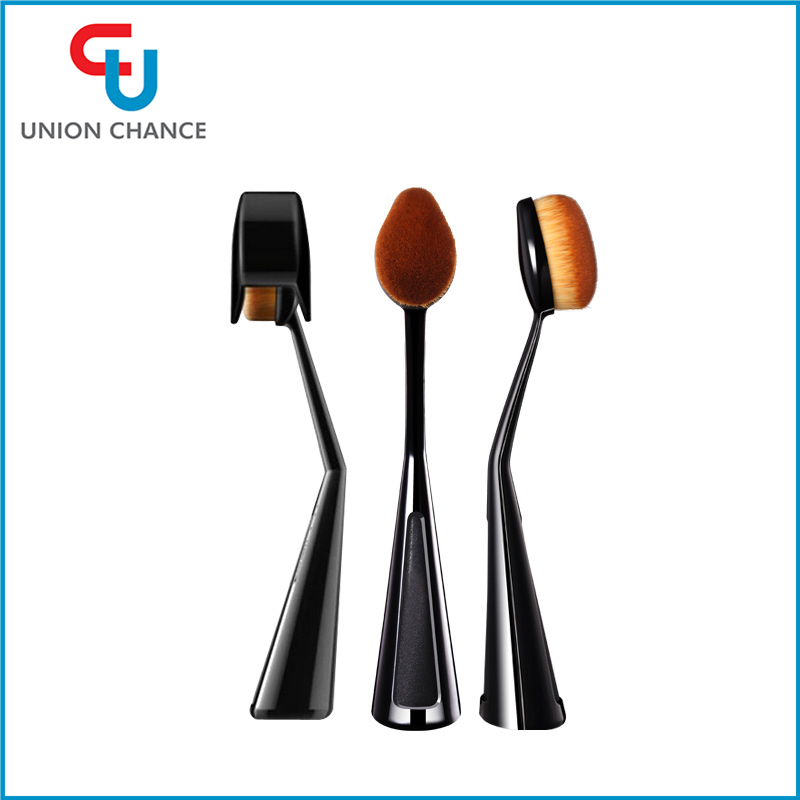 Cosmetic Makeup Beauty Tools Toothbrush Oval Foundation Brush with Resin Handle