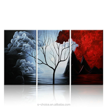 3 Panel Contemporary Giclee Art Reproductions Modern Painting Pictures Printed on Canvas for Home and Office