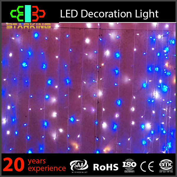 2016 new nice home multi color led curtain light