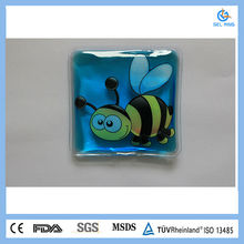 Bee picture square shape reusable instant hand warmer