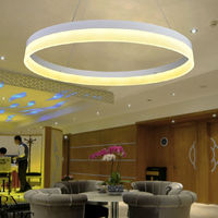 2015 Hot sale ring residential modern acrylic led pendant lamp