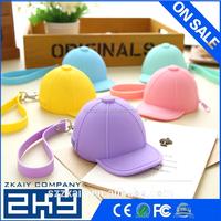 silicone cute cartoon candy colored baseball cap Coin Pocket Mini cap bag coin purse