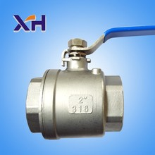 DN15 2pc type stainless steel ball valves with internal thread of 201 stainless steel water oil and Steam