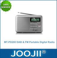 Hot Sales Portable DAB & FM Digital Radio With Clock And Memory 10 Station