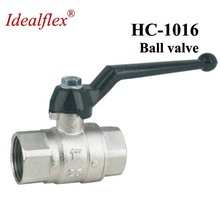 Idealflex brass female thread ball lock valve with iron handle taizhou supplier