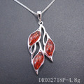Wholesales Elegant Create Resin Amber Designs 925 Silver Pendants For Women DR032718P