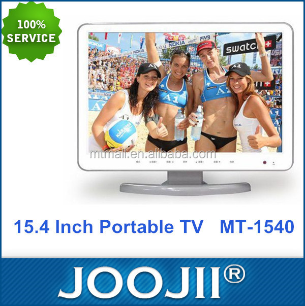 2015 New Hot Popular 15.4 Inch Portable Digital TV with DVD Player for Car and Computer