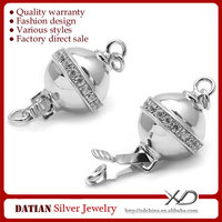 XD S1434 925 Sterling Silver Bracelet Box Clasp for Pearl Jewelry