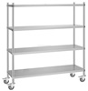 304 Four Tiers Stainless Steel Cold And Freezer Room Shelves For Restaurant Supplies