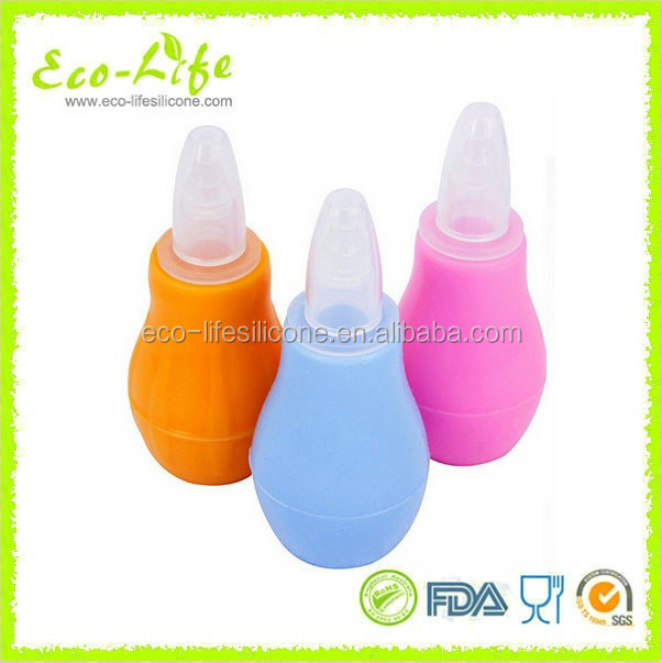 High Quality Manual Silicone Baby Vacuum Nose Nasal Aspirator