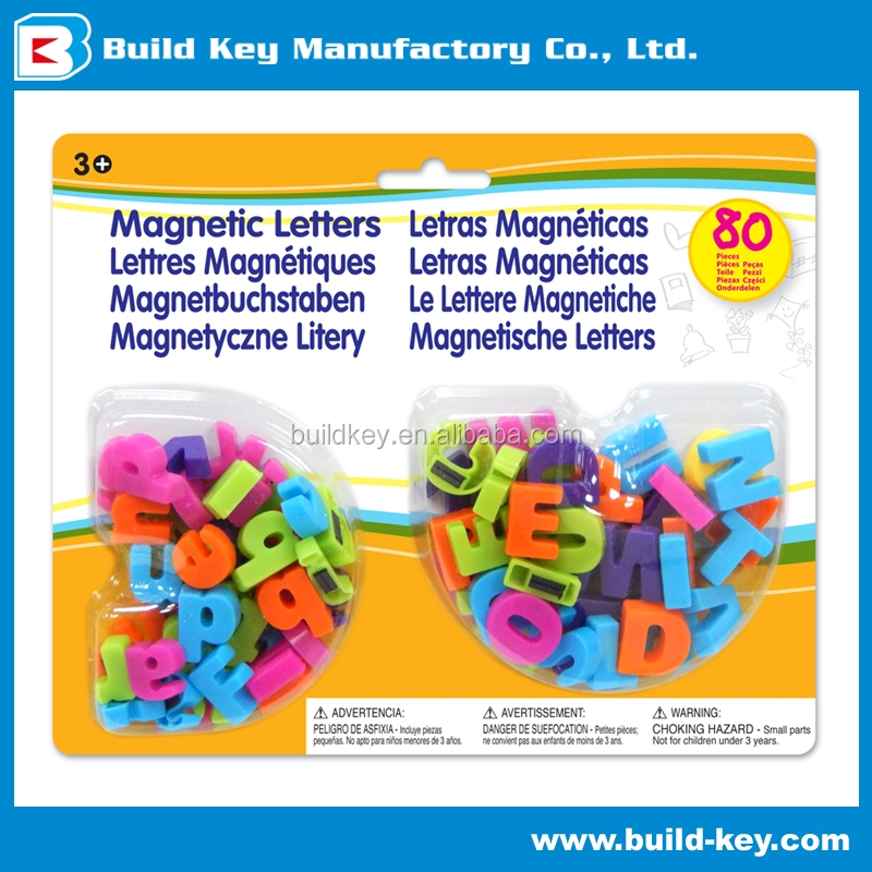 "Magnetic Letters Uppercae Lowercase Educational 0.75"" Toy Plastic"