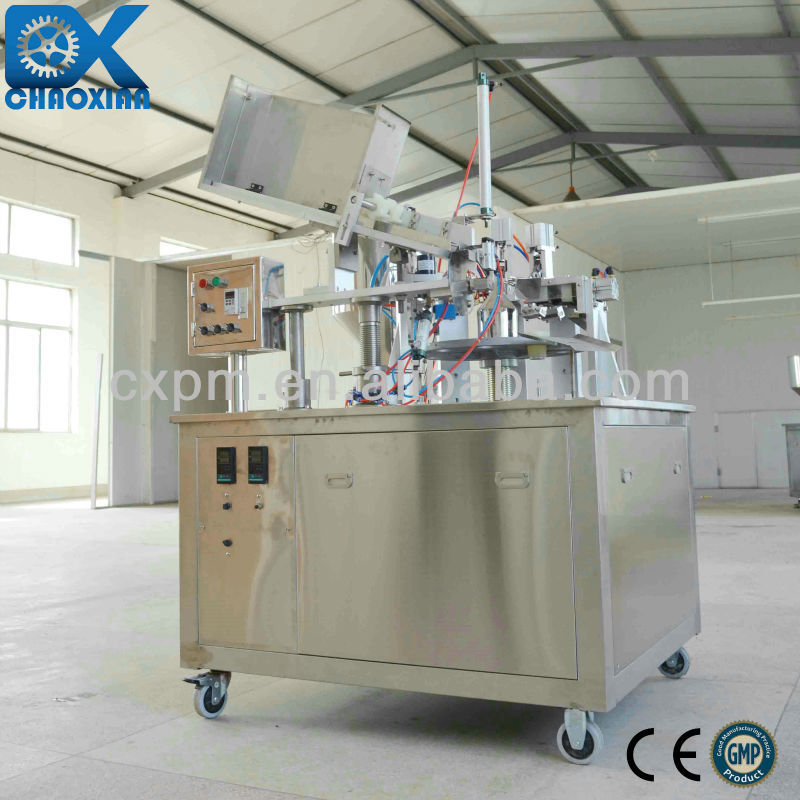 Aluminum-plastic laminated tube adhesive automatic filling and sealing machine