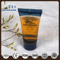 Plastic cosmetic soft tube for hotel amenities packaging container