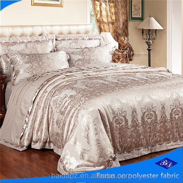 100% polyester woven fabric/jacquard bedding set/wholesale printed bedding fabric
