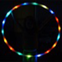 LED Cheap Hula Hoop Collapsible Weighted LED Hula Hoop Segmented rhythmic