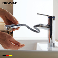 With Elastic Spray Nozzle Basin Mixer