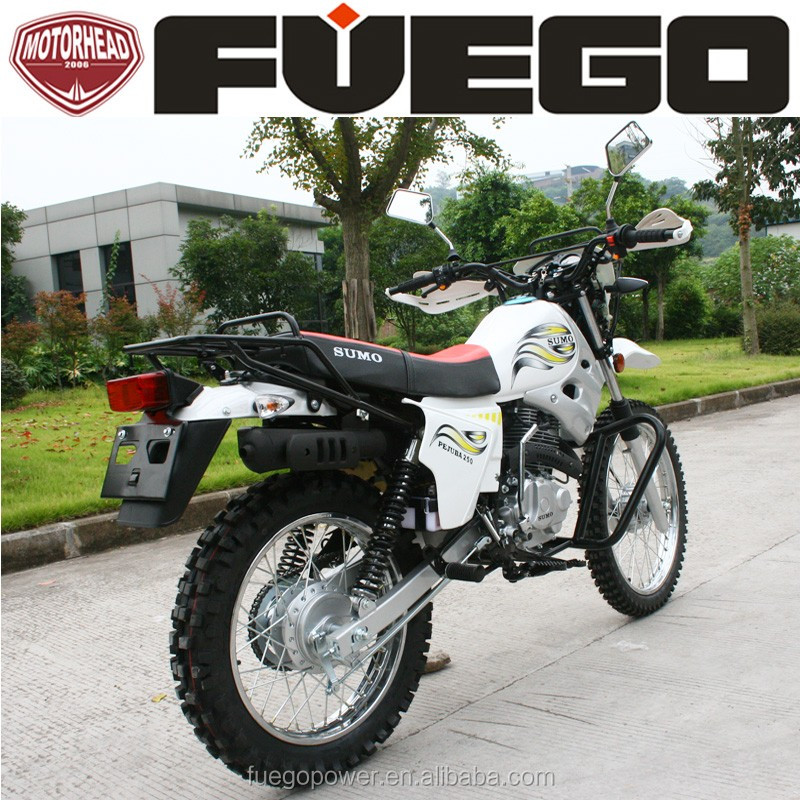 200 250cc Cheap Dirt Bike Off Road Sports Motorcycle With Cargo Rack Hand Guards
