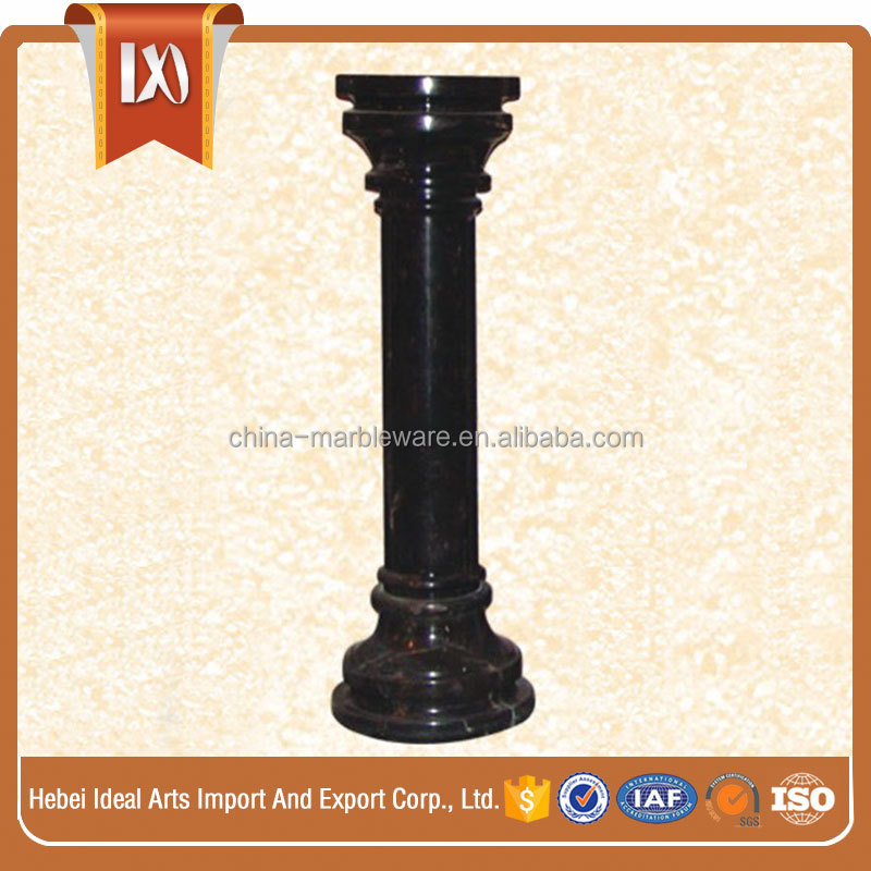 Marble carving parking pillar