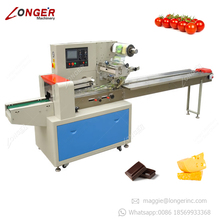 High Efficient Automatic Horizontal Pillow Incense Sticks Noodles Packaging Frozen Fruits Sandwich Food Flow Packing Machine
