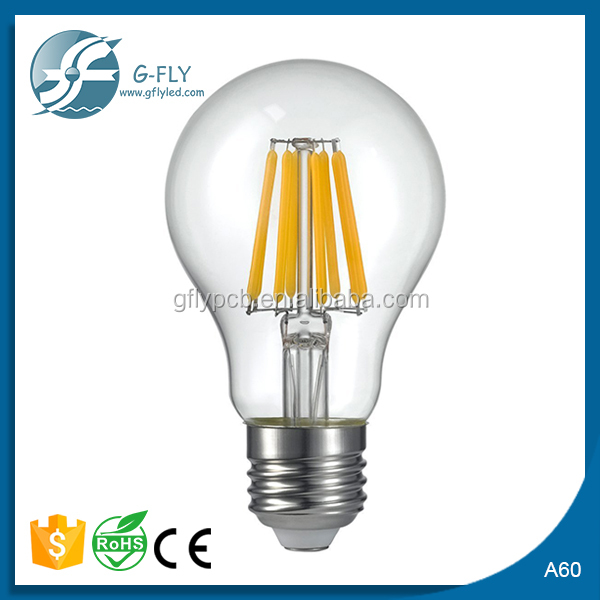 2016 top selling led filament bulb A19 A60 4W 5w no flicker filament led milky bulb