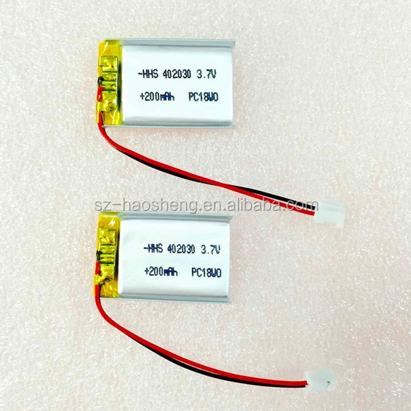 Hot selling for camera pen rechargeable battery 3.7v 180 mah li po battery 402030