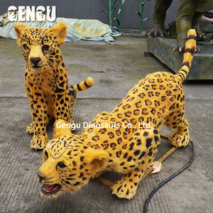 Animated Leopard Animal Model for Animal Park
