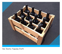 cheap wooden wine crates for sale with dividers