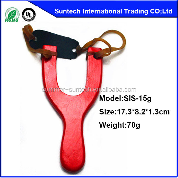 Wholesale wooden slingshot,soft rubber slingshot,all