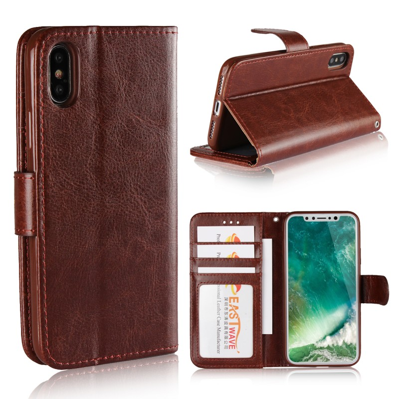 Phone Accessories Mobile Coque Funda Cover Leather Wallet TPU Silicone Phone Case For Apple iPhone X Case