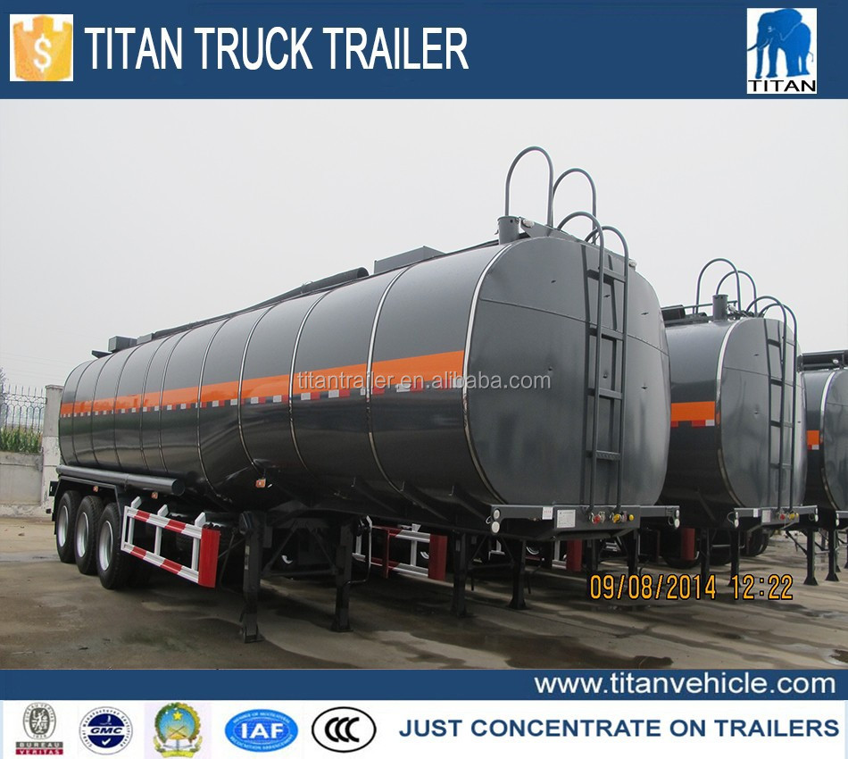 TITAN widely used oil tanker trailer, fuel tanker semi trailer, double hull oil tanker