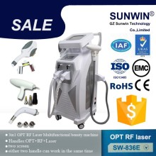 Multifunction Elight+SHR +IPL laser hair removal machine