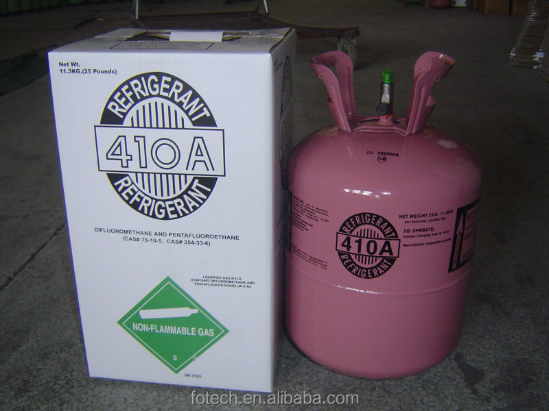 Hot Sales mixed refrigerant gas r410a with cheap price,substitute for R22