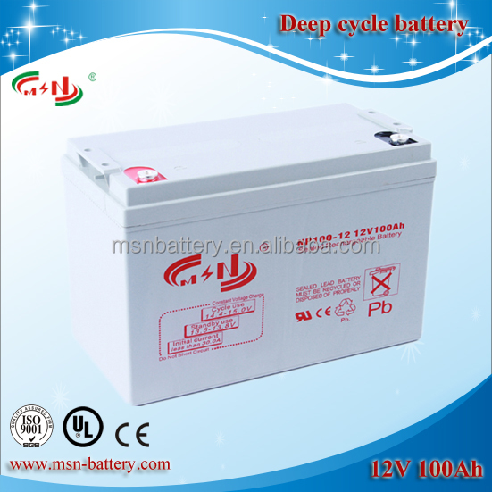 12v 100ah deep cycle battery for solar system/power station/UPS set, etc