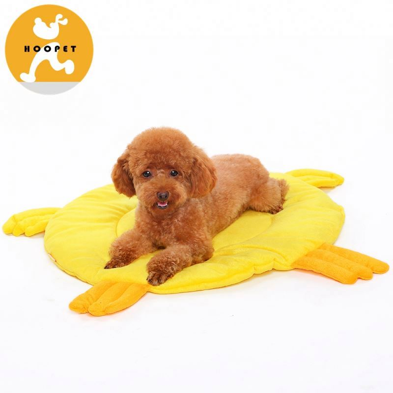 Flat yellow duck pet mat machine washable dog beds wholesale