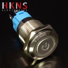 16mm led latching push button switch waterproof