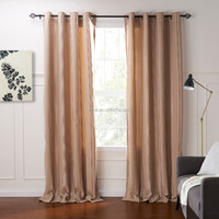Jacquard Window Curtains Drapes Set with Attached Valance & Liner