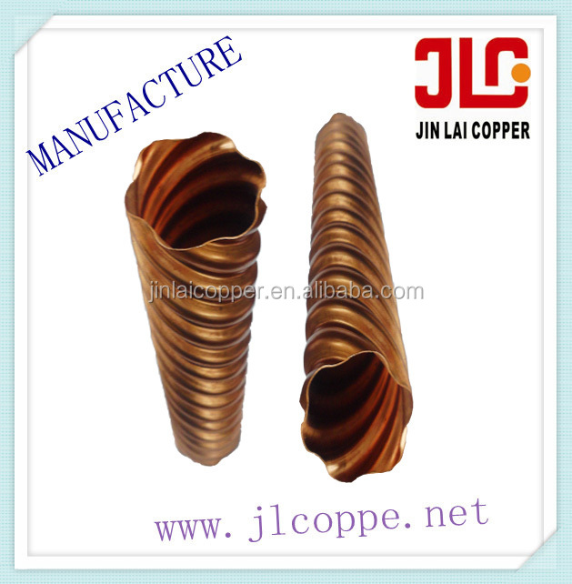 shaoxing custom precision size radiating spiral copper tube /pipe